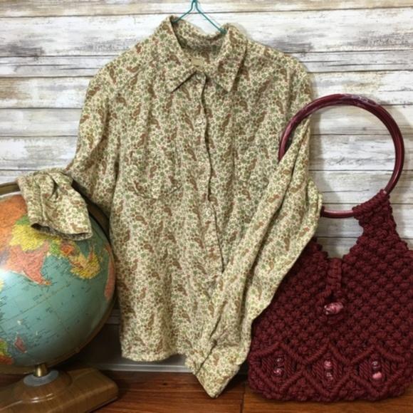 Vintage Tops - Vintage Woolrich Paisley Cotton Flannel
